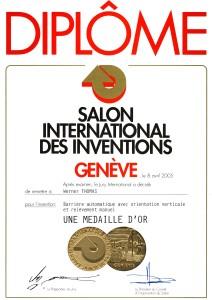 Goldmedaille auf der Welt Innovationsmesse in Genf 2005