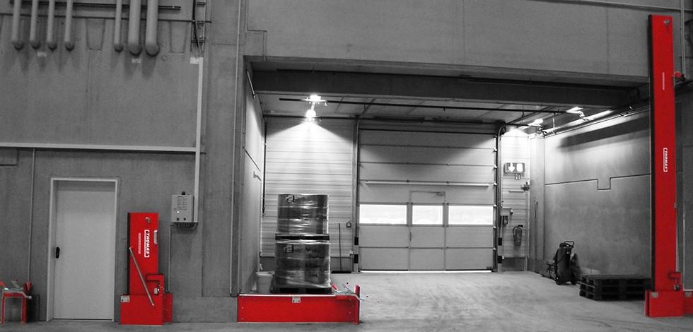 Automatische Barriere Vertikal Drehbar mit manueller Rückstellung