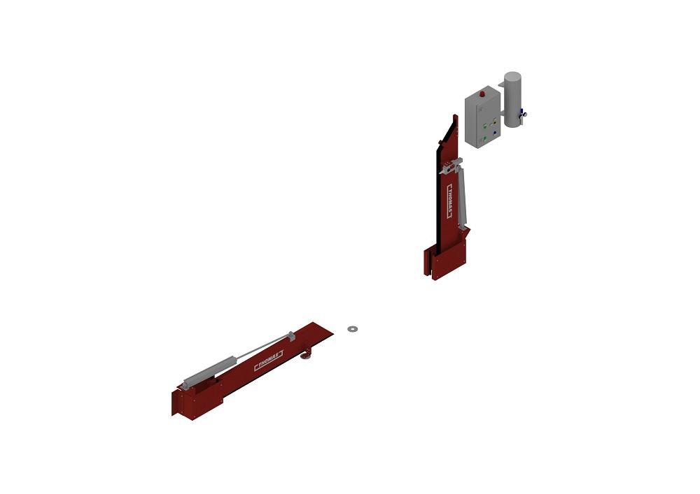 Automatische Barriere Beidseitig Vertikal Drehbar halboffen von thomas.biz
