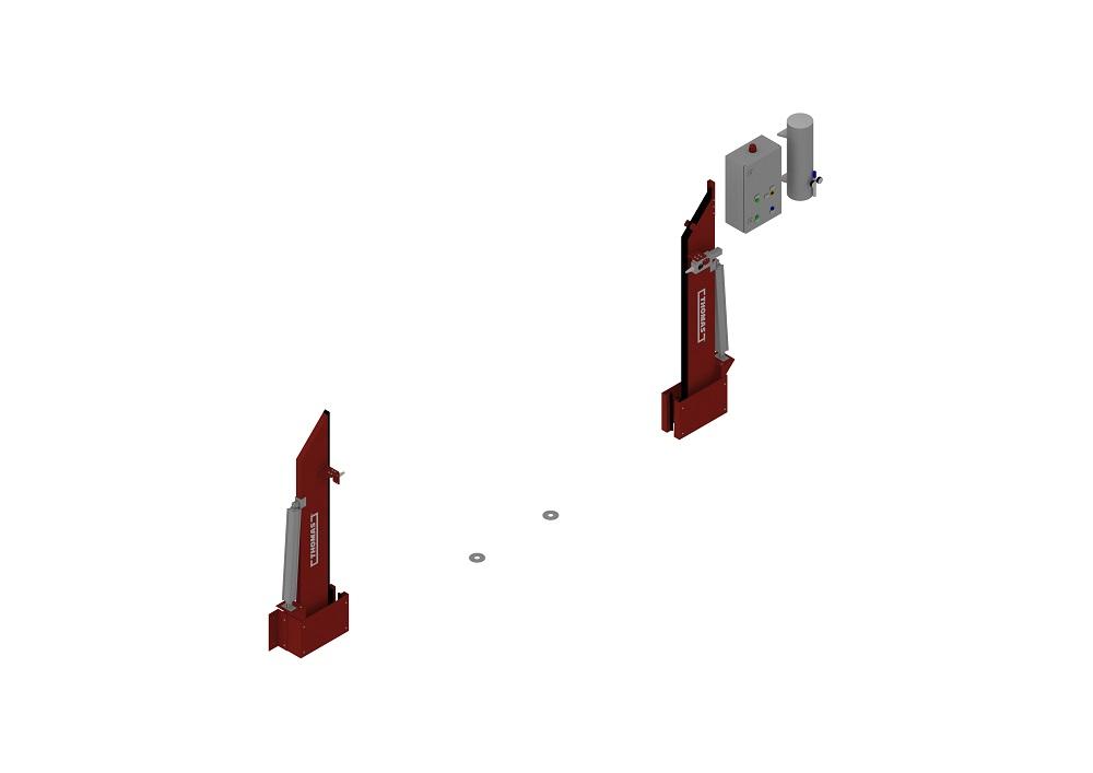 Automatische Barriere Beidseitig Vertikal Drehbar offen von thomas.biz