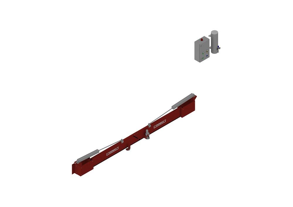 Automatische Barriere Beidseitig Vertikal Drehbar geschlossen von thomas.biz