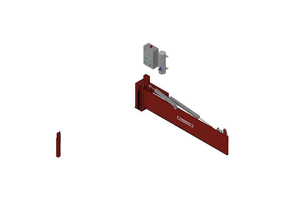 Automatische Barriere Horizontal Drehbar offen von thomas.biz