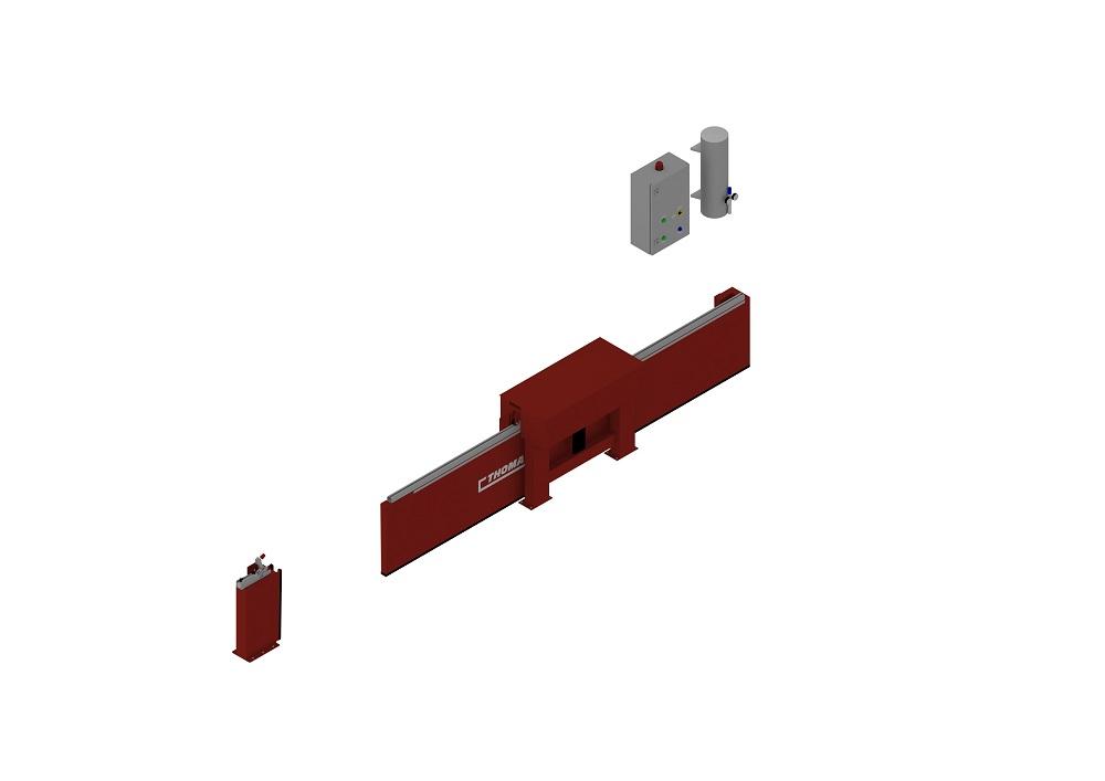 Automatische Barriere Horizontal Fahrbar halboffen von thomas.biz