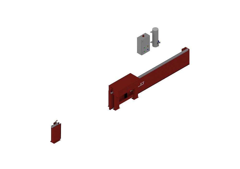 Automatische Barriere Horizontal Fahrbar offen von thomas.biz