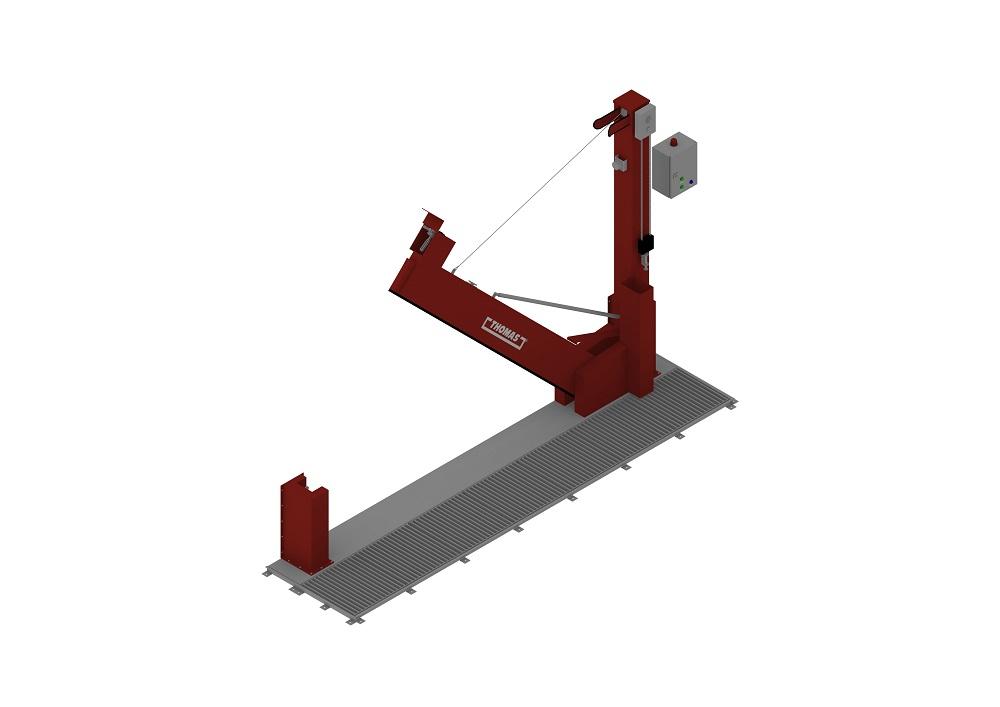 Automatische Barriere Vertikal Drehbar FM Approved halboffen von thomas.biz
