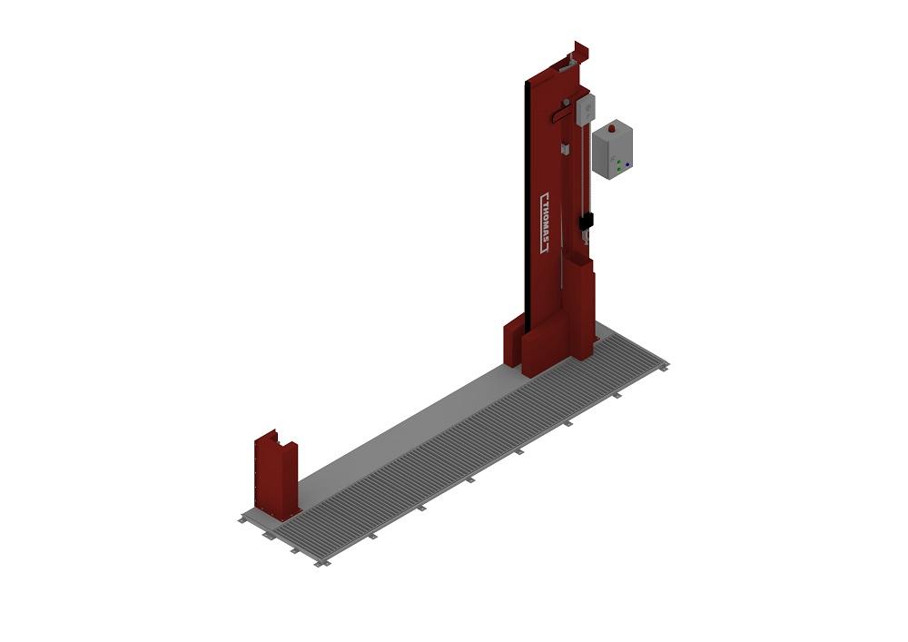 Automatische Barriere Vertikal Drehbar FM Approved offen von thomas.biz