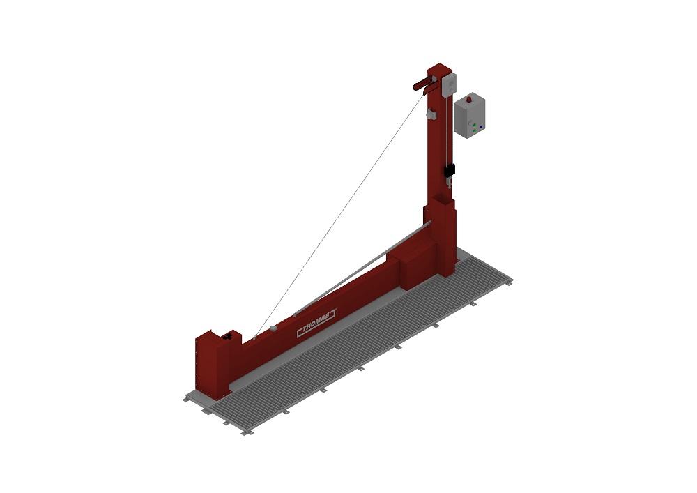 Automatische Barriere Vertikal Drehbar FM Approved geschlossen von thomas.biz