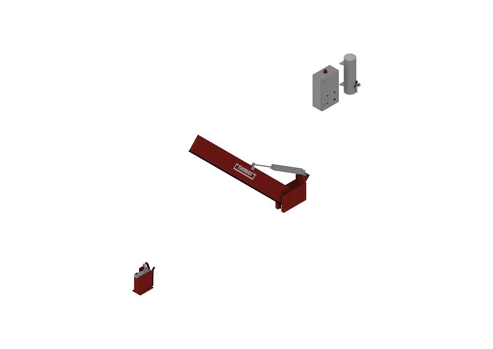 Automatische Barriere Vertikal Drehbar halboffen von thomas.biz