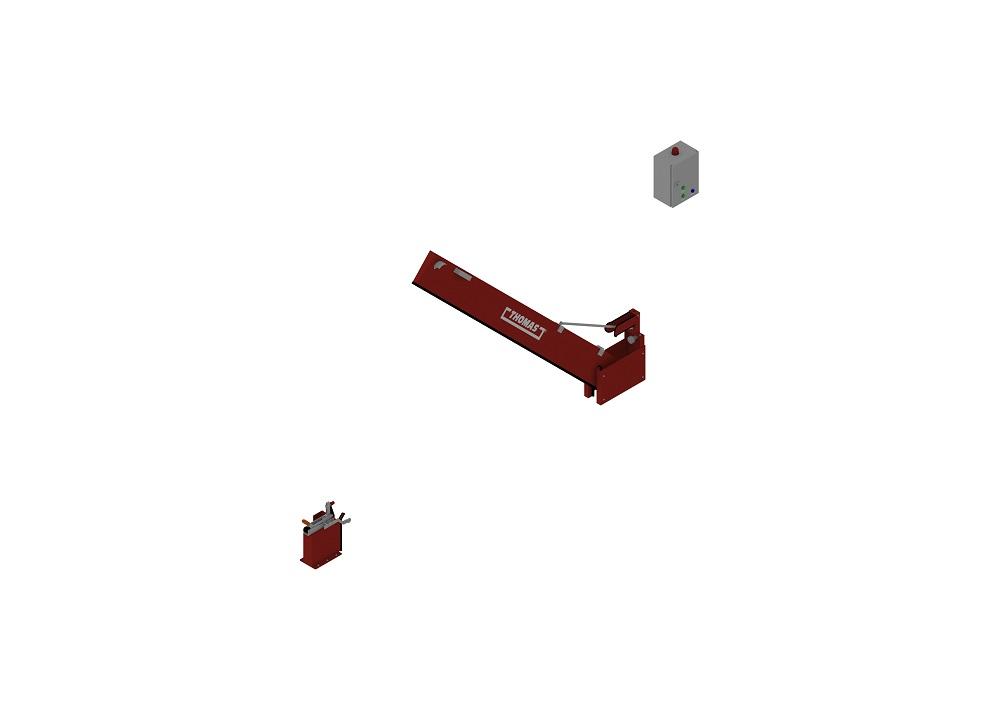 Automatische Barriere Vertikal Drehbar, Manuelle Rückstellung halboffen von thomas.biz