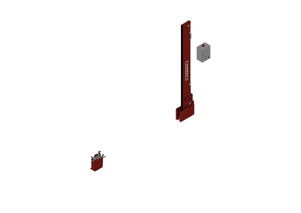 Automatische Barriere Vertikal Drehbar, Manuelle Rückstellung offen von thomas.biz