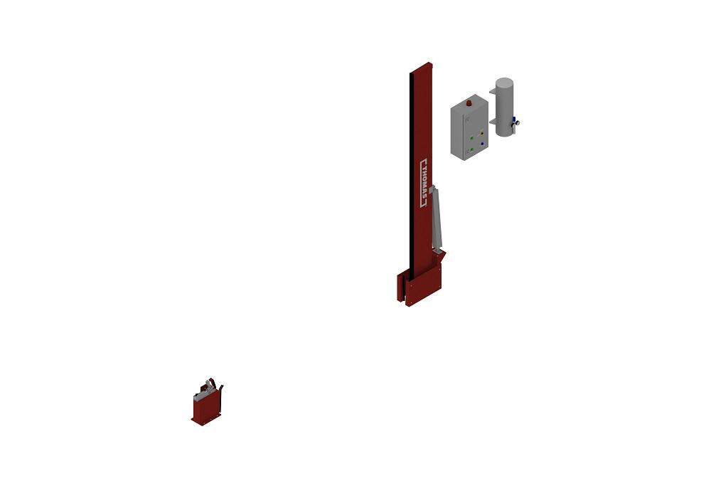 Automatische Barriere Vertikal Drehbar offen von thomas.biz