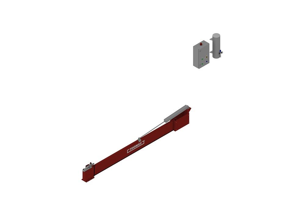 Automatische Barriere Vertikal Drehbar geschlossen von thomas.biz