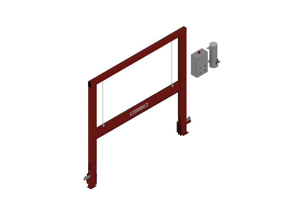 Automatische Barriere Vertikal Fahrbar halboffen von thomas.biz