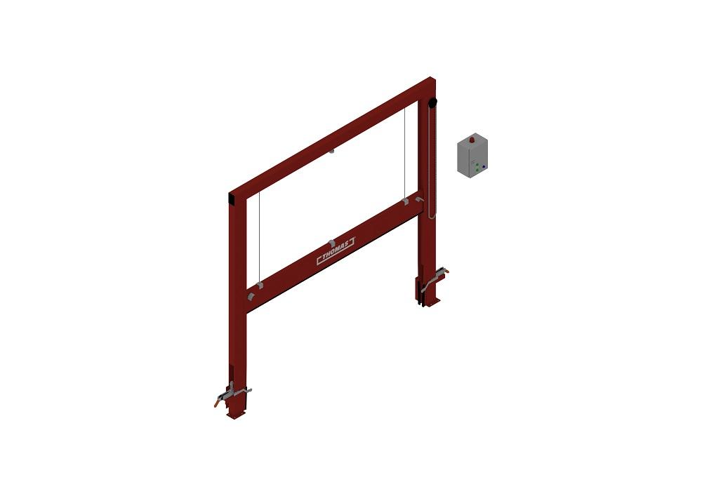 Automatische Barriere Vertikal Fahrbar, Manuelle Rückstellung halboffen von thomas.biz