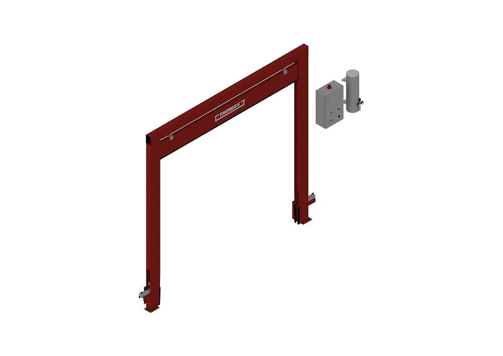 Automatische Barriere Vertikal Fahrbar offen von thomas.biz