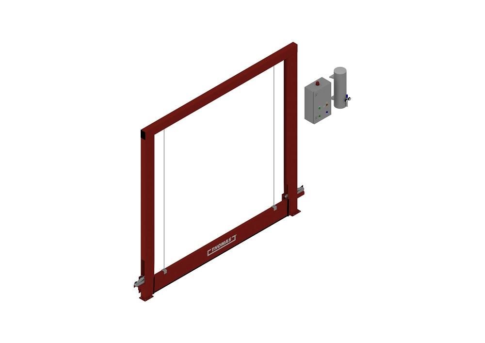 Automatische Barriere Vertikal Fahrbar geschlossen von thomas.biz