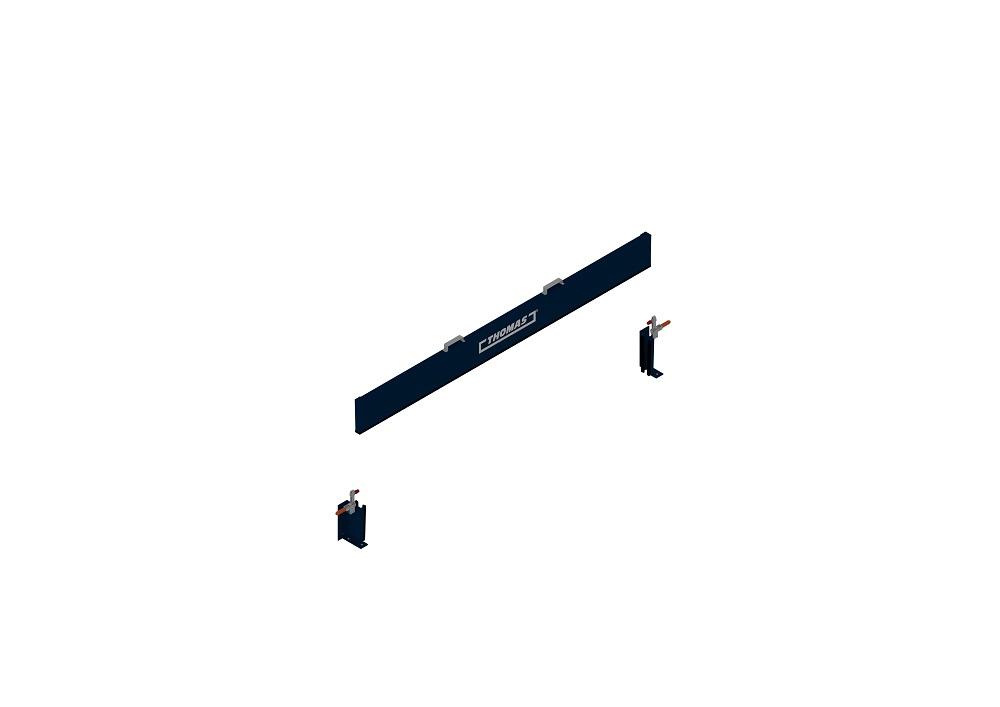 Mobile Barriere Steckbar in blau halboffen von thomas.biz