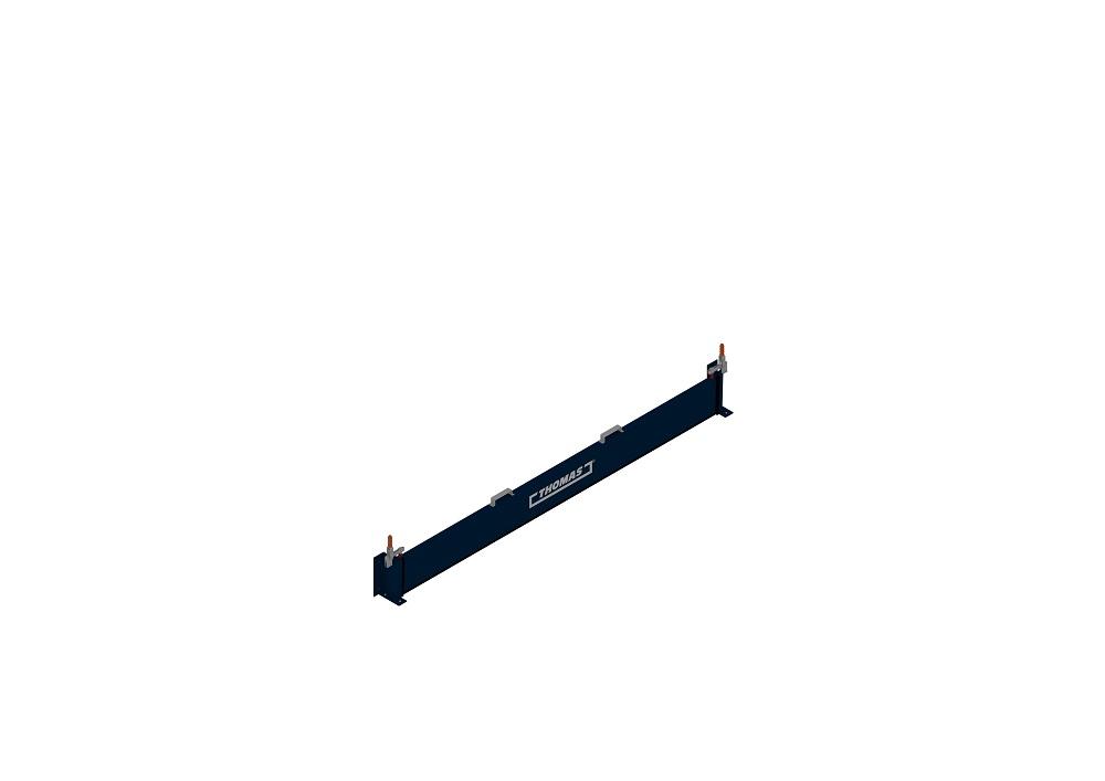 Mobile Barriere Steckbar in blau geschlossen von thomas.biz