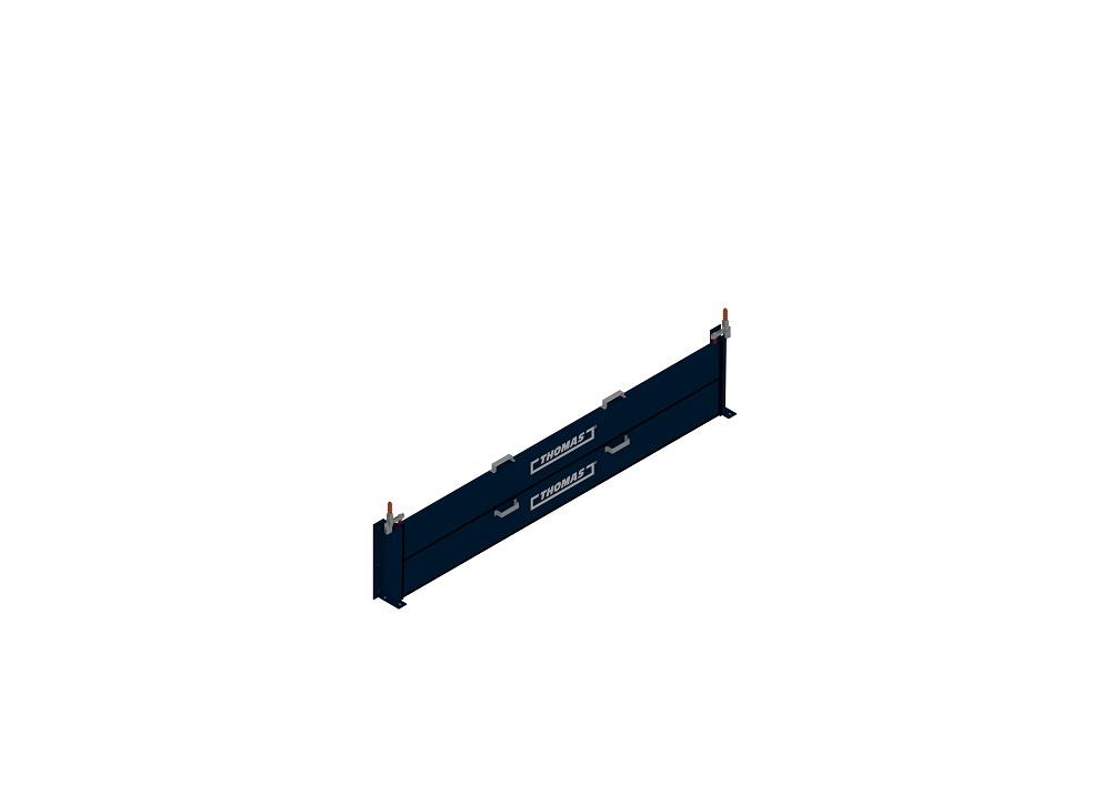 Mobile Barriere Steckbar Stapelbar in blau von thomas.biz