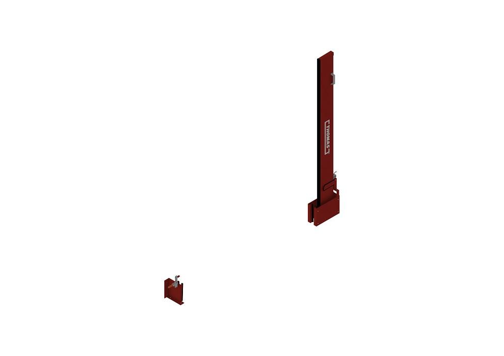 Manuelle Barriere Vertikal Drehbar offen von thomas.biz