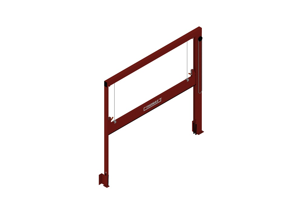 Manuelle Barriere Vertikal Fahrbar halboffen von thomas.biz