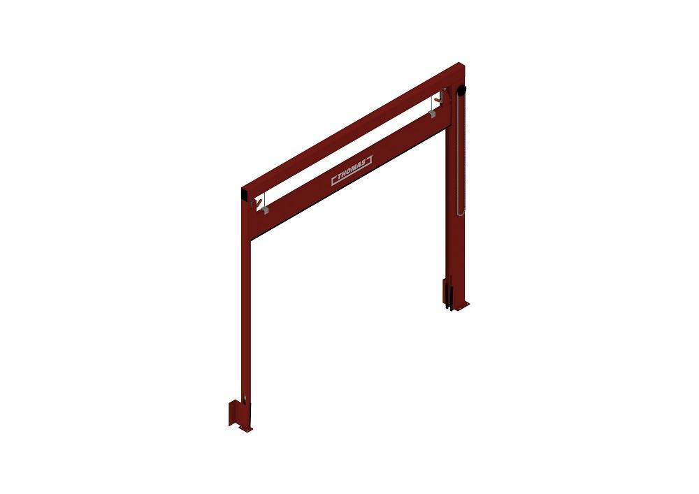 Manuelle Barriere Vertikal Fahrbar offen von thomas.biz