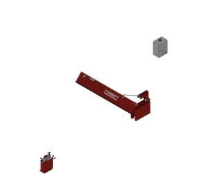 Automatische Löschwasserbarriere Vertikal Drehbar Manuelle Rückstellung halboffen