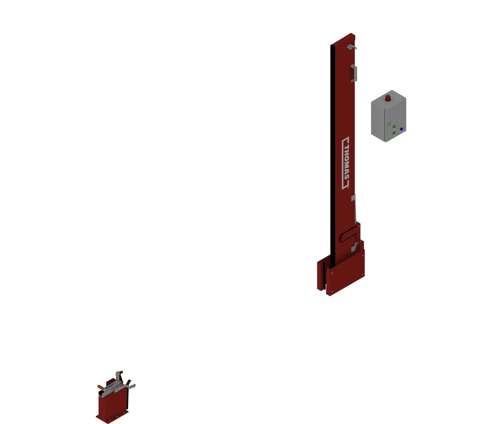 Automatische Löschwasserbarriere Vertikal Drehbar Manuelle Rückstellung offen
